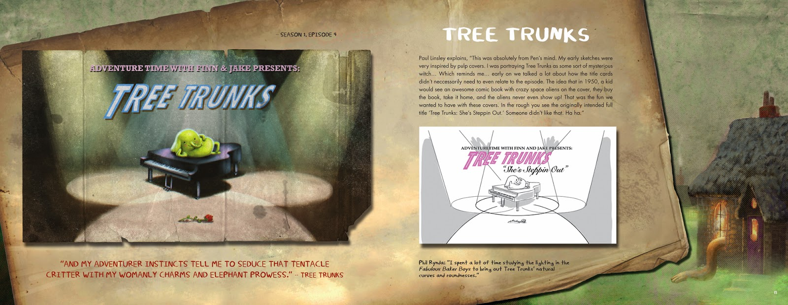 Adventure Time - The Original Cartoon Title Cards Tree Trunks