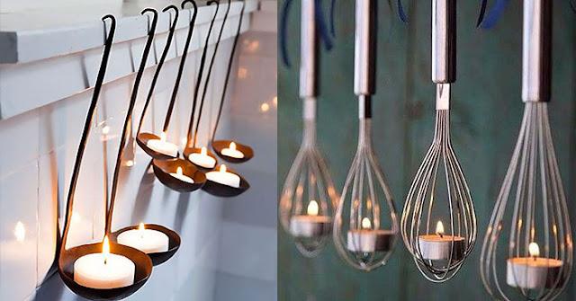 Luminaria Com Utensilios de Cozinha