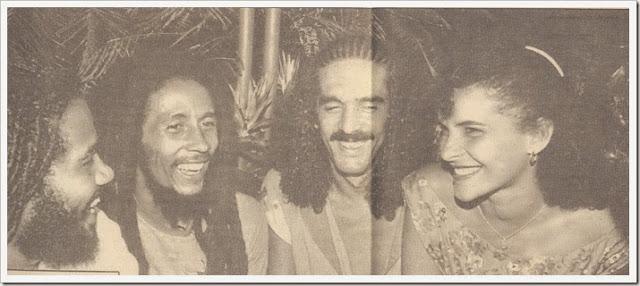 Uma visita de Bob Marley ao Brasil no ano de 1980