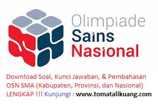 soal osk matematika sma 2019; kunci jawaban osk matematika sma 2019; kabupaten kota; tomatalikuang.com