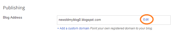Change your Blog URL Blogspot