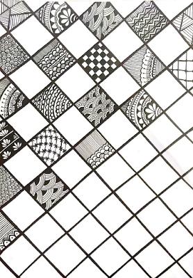 crisscross mandala design