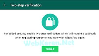 Meningkatkan Keamanan WhatsApp 2 step Verification