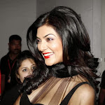 Sushmita Sen hot wallpapers in black transparent  wear
