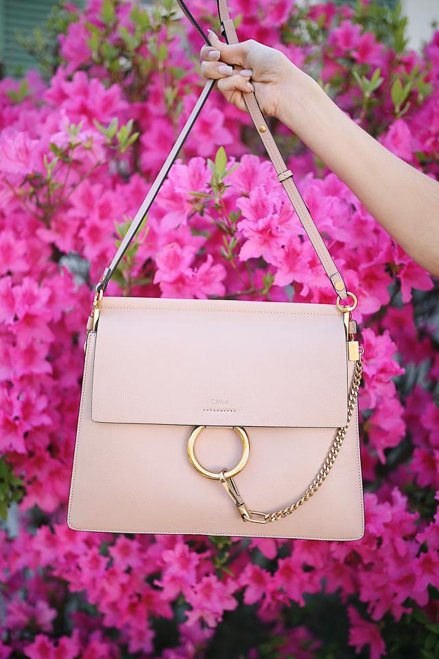 "Chloe Faye Goatskin Leather Shoulder bag in ""biscotti beige"""