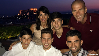 The Zidane family is on holiday