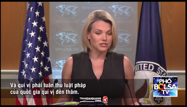 Bộ Ngoại giao Hoa Kỳ nói về William Nguyen