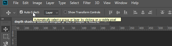 Tooltip on mouse hover in the Options bar