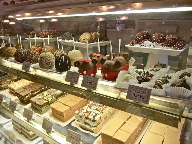 Doces e preços da Confectionery no Magic Kingdom em Orlando