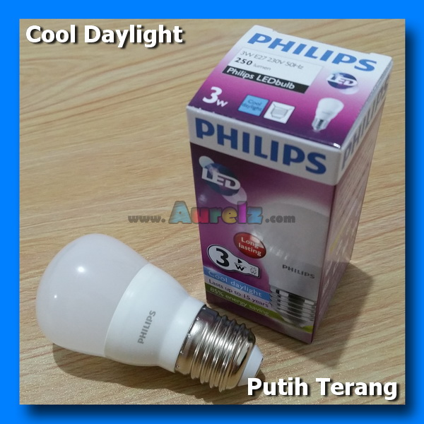 lampu led philips 3 watt cool daylight
