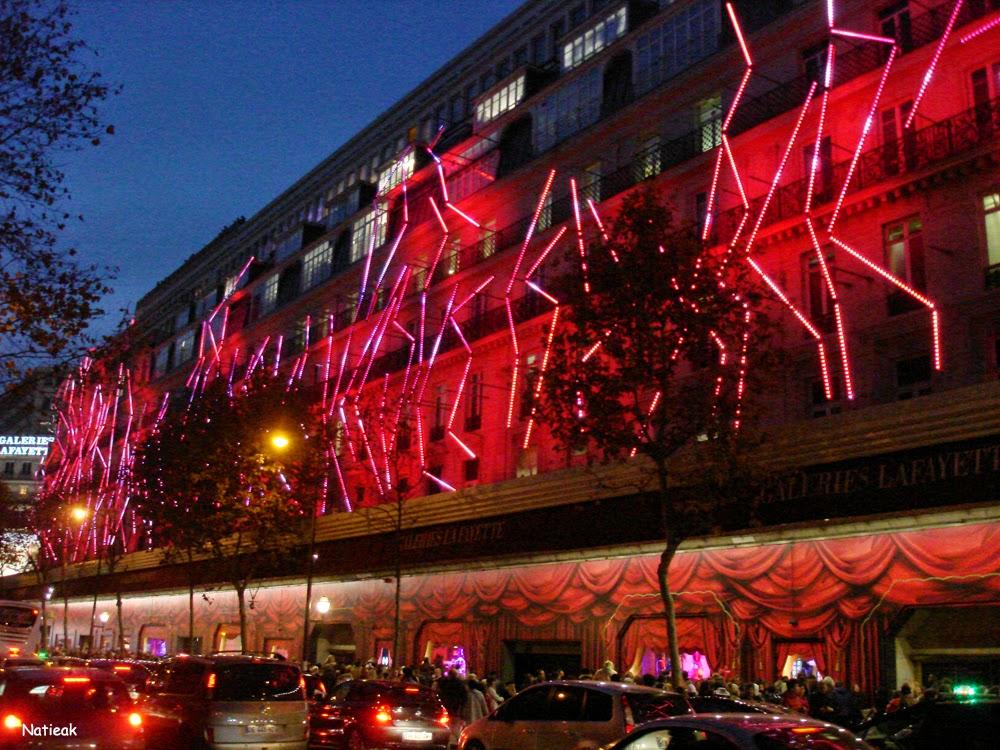Illumination de Noël Galerie Lafayette