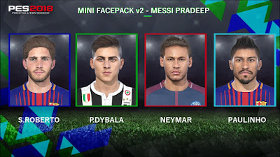 PES 2018 Mini Facepack v2 by Messi Pradeep