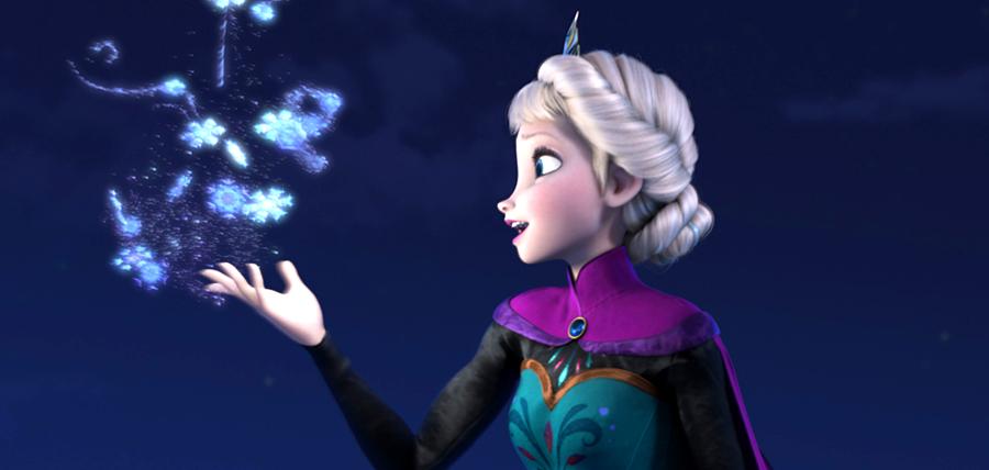 Elsa în animaţia Frozen Fever