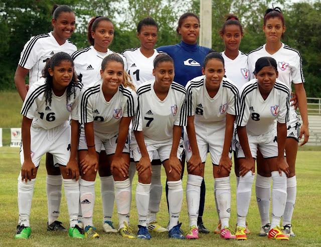 Selección femenina fútbol en Cuba