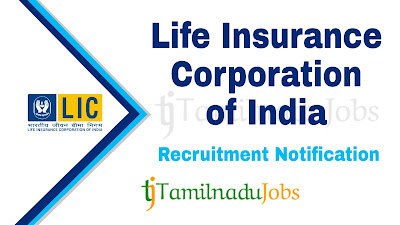 LIC Recruitment notification 2019, govt jobs for graduates