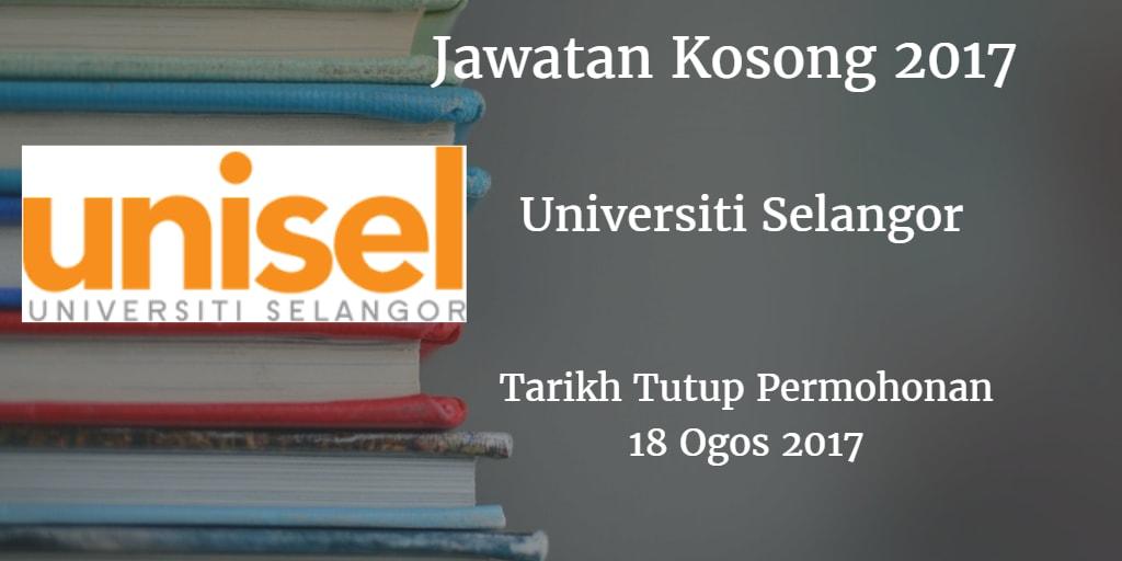 Jawatan Kosong UNISEL 18 Ogos 2017