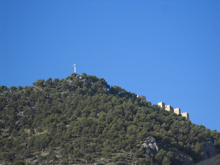 Jaen Parador and Cross on Santa Catalina
