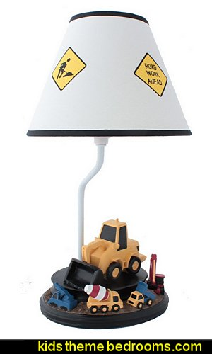 Construction Table Lamp with Matching Nightlight
