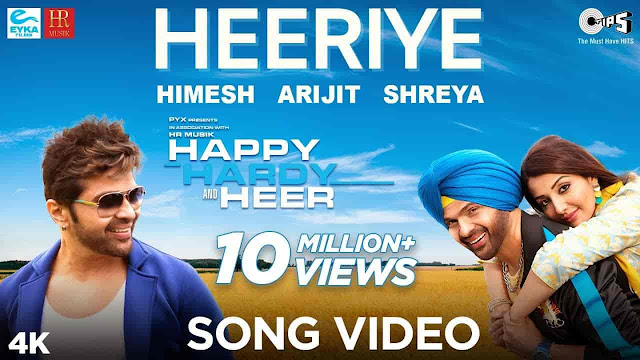 Heeriye Lyrics - Happy Hardy And Heer | Arijit Singh