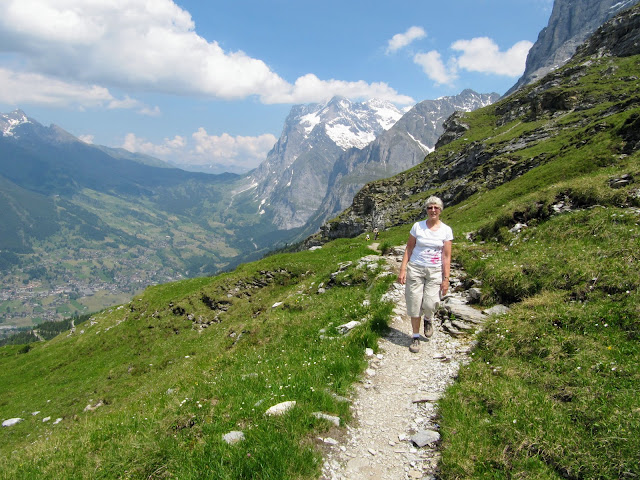 Eiger trail, Bernese Oberland, Jungfrau region, Switzerland