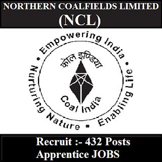 Northern Coalfields Limited, NCL, Apprentice, 10th, ITI, Madhya Pradesh, MP, UP, Uttar Pradesh, freejobalert, Sarkari Naukri, Latest Jobs, Hot Jobs, ncl logo