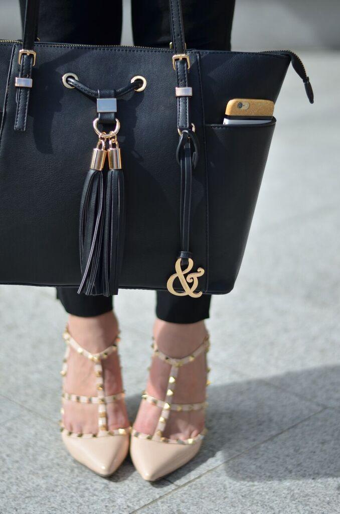 studded beige heels