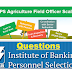 Questions on IBPS AFO –2016 Agricultural Field Officer
