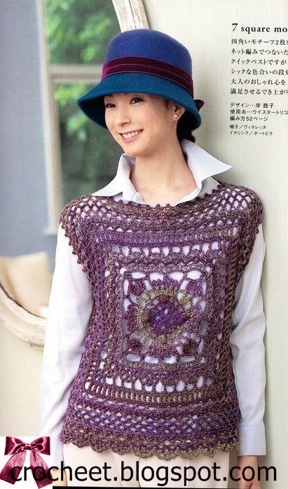 bda2fe0625647 beside crochet  بلوزة كروشية سهلة وجميلة