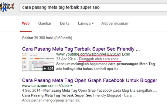 Cara Agar Video Anda Masuk No 1 Google dan Youtube