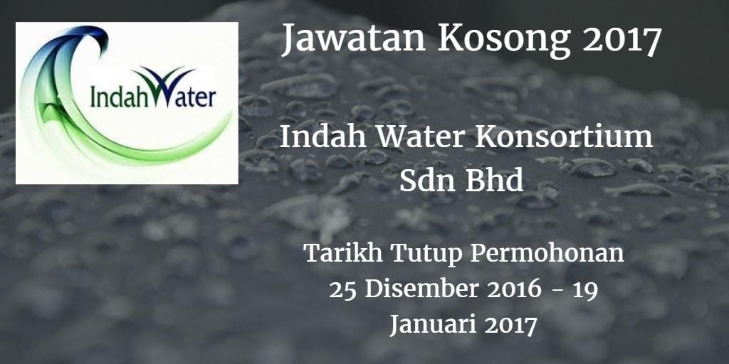 Jawatan Kosong Indah Water Konsortium Sdn Bhd 25 Disember 2016 - 19 Januari 2017