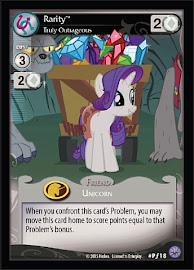 My Little Pony Rarity, Truly Outrageous Premiere CCG Card