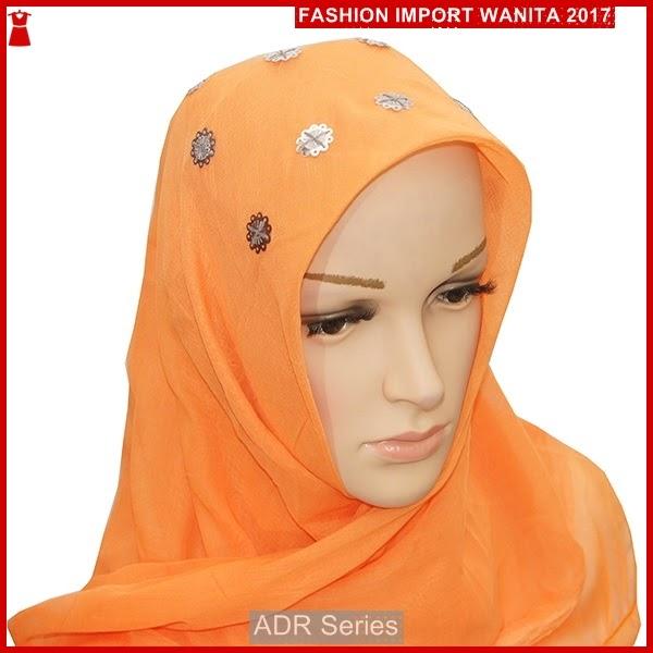 ADR160 Kerudung Untuk Wanita Orange Jilbab mport BMG