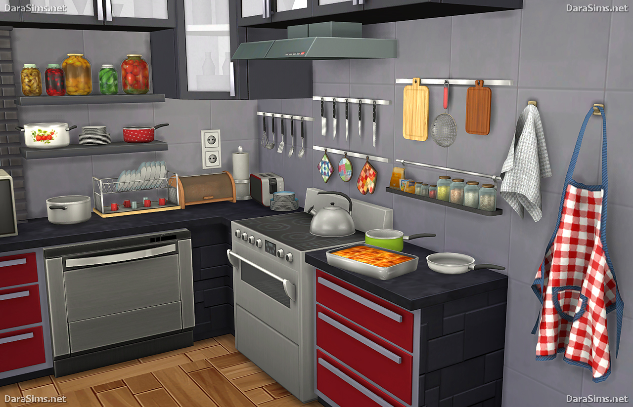 My sims 4 blog kitchen clutter and food decor by dara for Decoration retro cuisine