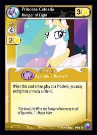 MLP Princess Celestia, Bringer of Light Canterlot Nights CCG Card