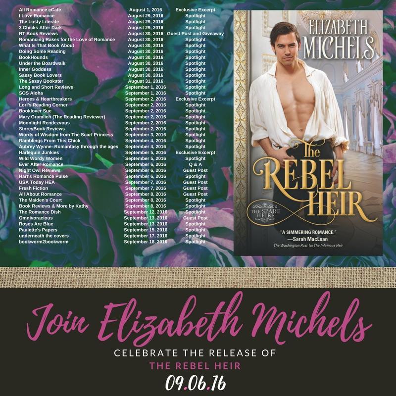 The Romance Dish Spotlight Elizabeth Michels The Rebel Heir