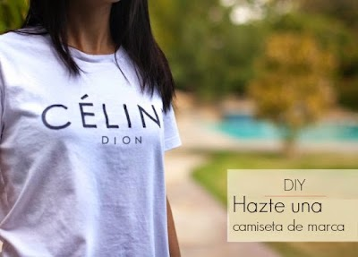 Camiseta estarcido con logo de Celini