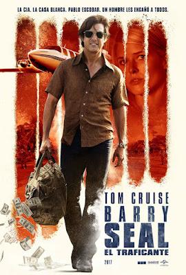 Póster en español de Barry Seal El Traficante