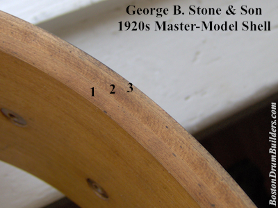 1923 George B. Stone & Son Master-Model Snare Drum Shell