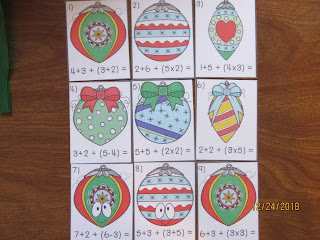 FREEBIE Ornaments Order of Operations Task Cards and Game available in FB Group
