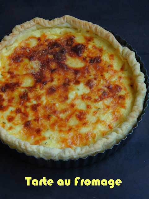 French cheese tart, Tarte au fromage