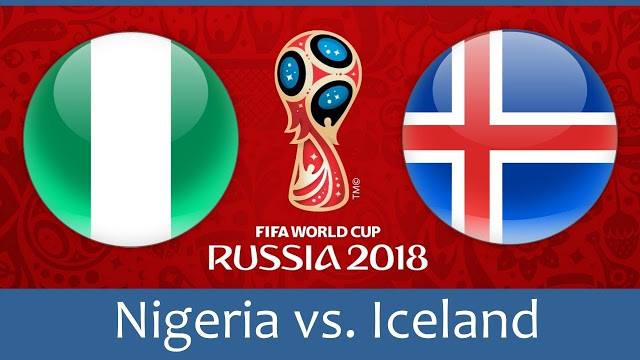 NIGERIA VS ICELAND LIVE STREAM WORLD CUP 22 JUNE 2018