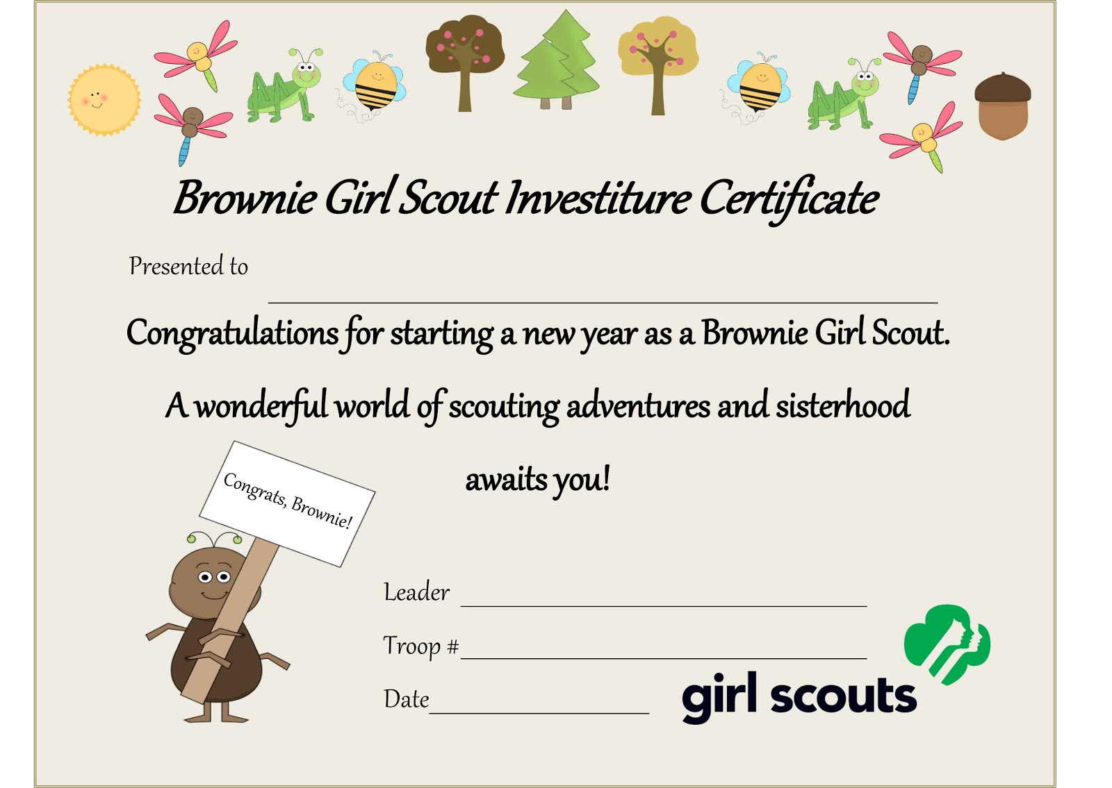 Scouting Certificate Templates
