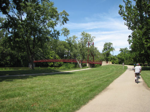 Island Metropark Dayton bike path