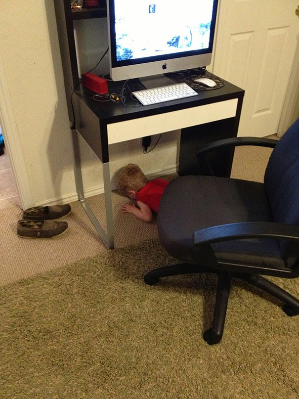 kids hiding