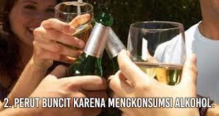 Perut Buncit karena mengkonsumsi alkohol