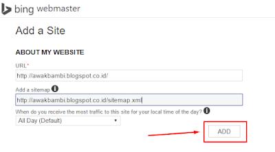 Cara submit Blog Ke Bing Dan Yahoo Webmaster Tool