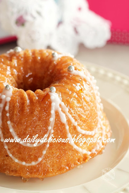 Marmalade Bundt Cake With Crystallized Ginger Scotch Custard Sauce