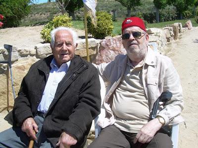Nogué y el autor (Lérida 2013, foto archivo personal)