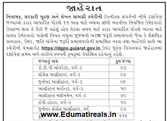 DGPS Recruitment various Posts 2019