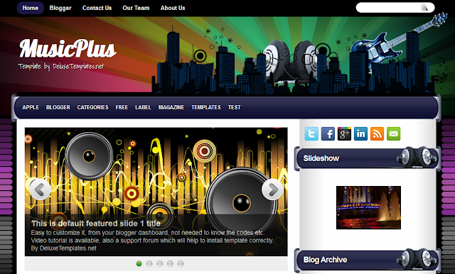 Music Theme Blogger Template